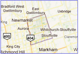 Whitchurch-Stouffville City Map